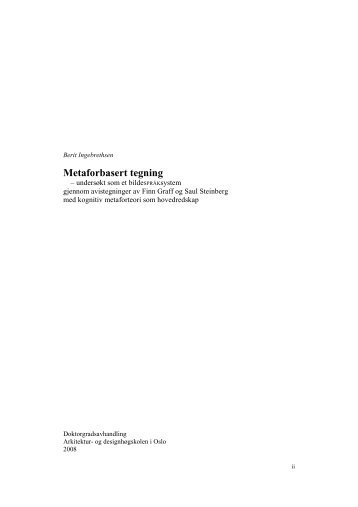 Metaforbasert tegning - Arkitektur- og designhøgskolen i Oslo