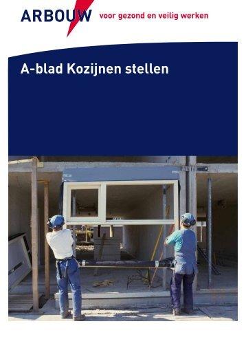 A-blad Kozijnen stellen - Arbouw