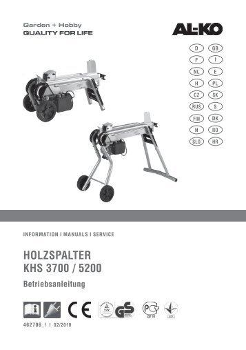 Holzspalter KHs 3700 / 5200 - AL-KO Garten + Hobby