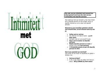 Intimiteit met God - Kanaan Ministries