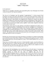 Joh.11:46-53 Judika - 17 Maart 2013 Liewe gemeente ... - Felsisa
