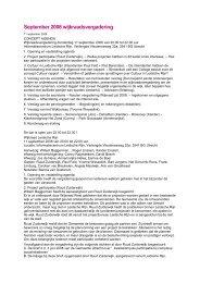 September 2008 wijkraadsvergadering - Wijkraad Leidsche Rijn
