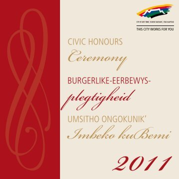 Civic_Honours_2011 book SMALL.pdf - City of Cape Town