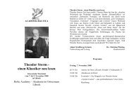 Theodor Storm - einen Klassiker neu lesen - Academia Baltica