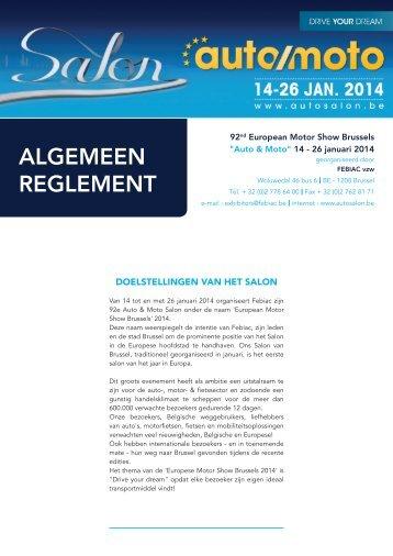 Salonreglement 2014 - Salon de l'Auto