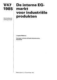 De interne EG-markt voor industriële produkten - Wetenschappelijke ...