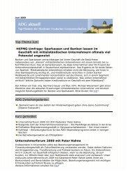 Top-Thema Juni: KPMG-Umfrage: Sparkassen und Banken ... - ADG