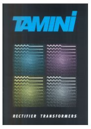 Rectifier Transformers - Tamini Group