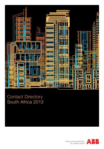 Contact Directory South Africa 2012 - ABB - The ABB Group
