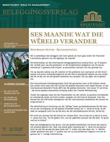 Ses maande wat die wereld verander het - bwm.co.za