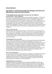 Das Defizit an verkehrspsychologischer Strategie - ADFC Regensburg