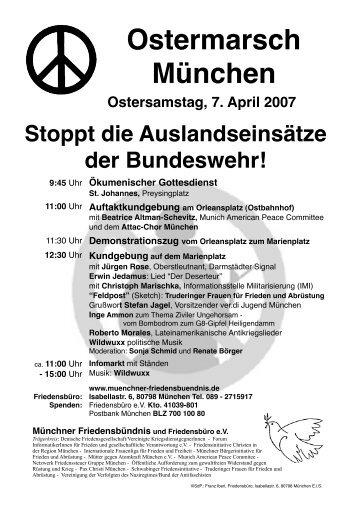 Ostermarsch München - Münchner Friedensbündnis