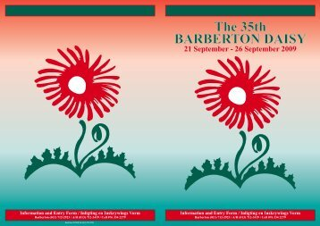 The 35th BARBERTON DAISY