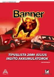 www.bannerbatteries.com MAGYARORSZÁG - banner akkumulátor