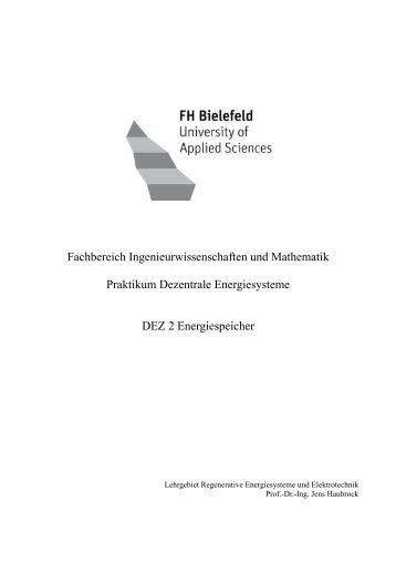 Fachbereich Ingenieurwissenschaften und Mathematik Praktikum ...