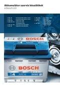 A tesztelés, töltés és indítás szakértői Akkumulátor szerviz ... - Bosch - Page 2
