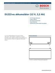 D1222-es akkumulátor (12 V, 2,2 Ah) - Bosch Security Systems