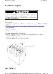 Akkumulátor vizsgálata Mérési művelet: