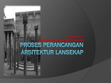 Proses Perancangan Arsitektur Lansekap - Direktori File UPI