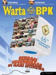 LAPORAN UTAMA ANTAR LEMBAGA - Badan Pemeriksa Keuangan