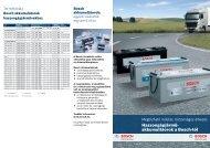 Haszongépjármű- akkumulátorok a Bosch-tól