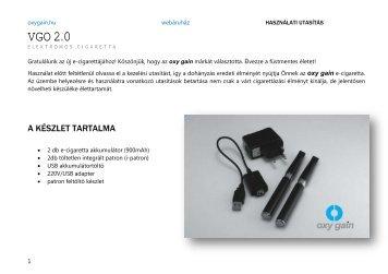 Használati utasítás - VGO 2.0i elektromos cigaretta - Ecigi