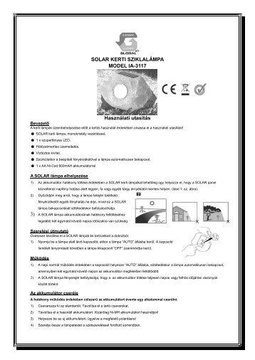 PDF használati utasítás letöltés - GLOBAL Export-Import Kft.