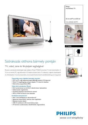 PT9000/12 Philips Hordozható TV