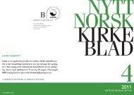 Nytt norsk kirkeblad nr 4-2011 - Det praktisk-teologiske seminar