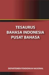 Kamus Besar Tesaurus Bahasa Indonesia pdf The Indonesian