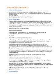 Satzung des ADFC Kreis Wesel eV - beim ADFC