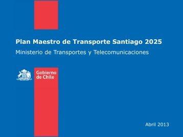 Plan Maestro de Transporte Santiago 2025