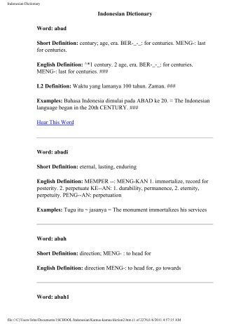 Indonesian Dictionary - John Curran