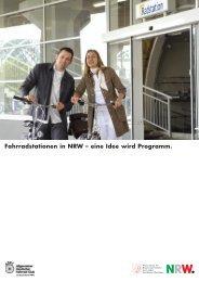 Fahrradstationen in NRW – eine Idee wird Programm.