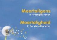 """Nederlandse versie van de brochure voor ouders """"Meertaligheid in ..."""