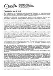 Tätigkeitsbericht für 2009 - beim ADFC