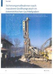 l Sicherungsmaßnahmen nach - Grund-, Pfahl- und Sonderbau Gmbh