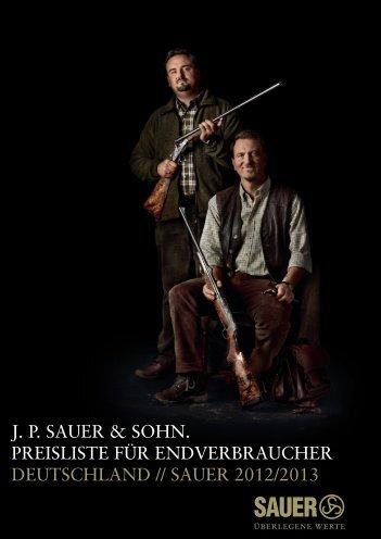 Preisliste 2012 - Sauer