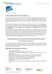 Crosslauf - Allgemeiner Deutscher Hochschulsportverband