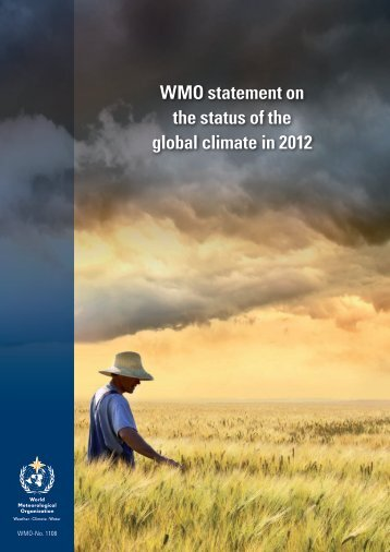 WMO statement on the status of the global climate in 2012