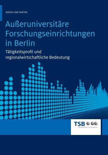 außeruniversitäre Forschungseinrichtungen in Berlin