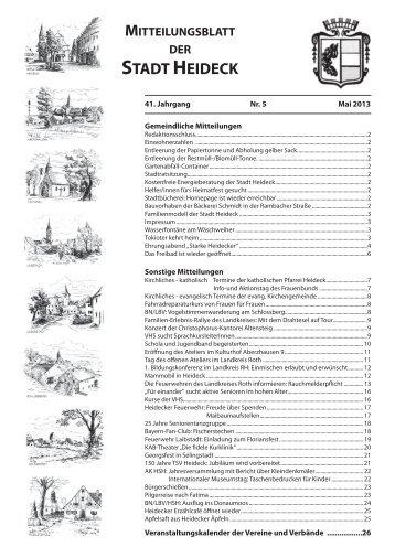 Mitteilungsblatt Mai 2013