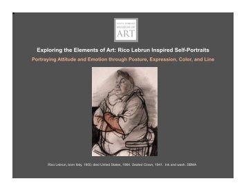 Rico Lebrun Inspired Self-Portraits - Santa Barbara Museum of Art