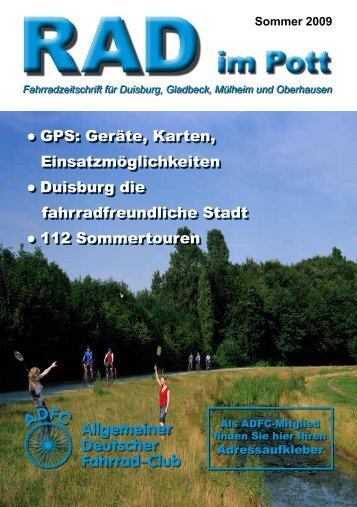 Fahrradzeitschrift Für Duisburg, Gladbeck, Mülheim - beim ADFC