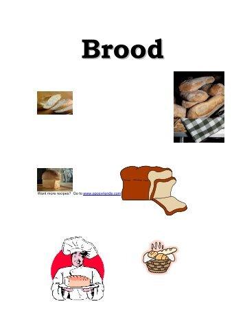 Brood Resepte boek - Peterjasie