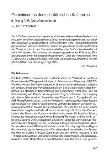 6. Dialog - ADS-Grenzfriedensbund eV, Arbeitsgemeinschaft ...