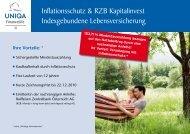 Inflationsschutz & RZB Kapitalinvest Indexgebundene ...