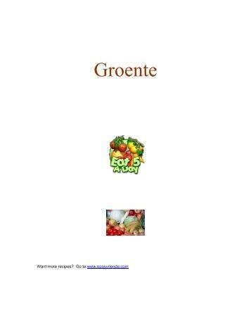 Groente resepte - Peterjasie