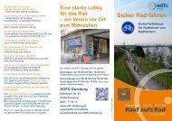 Sicherheitstipps für Radfahrer von Radfahrern Eine ... - beim ADFC