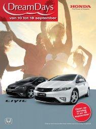 van 10 tot 18 september - Honda